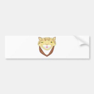 Cara sonriente del Caat Etiqueta De Parachoque