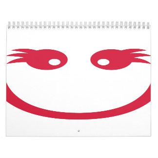 Cara sonriente del chica calendario