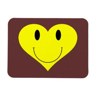 Cara sonriente del corazón imán flexible