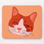 Cara sonriente del gatito tapete de ratones