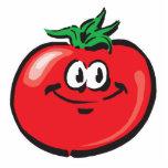 cara sonriente del tomate escultura fotográfica