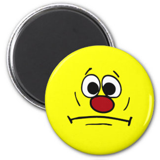 Cara sonriente dimitida Grumpey Imán Redondo 5 Cm
