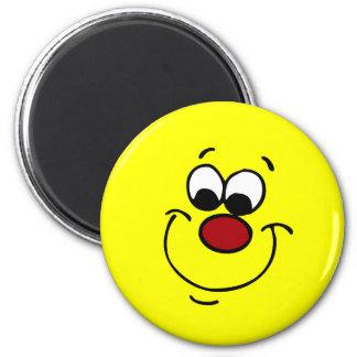 Cara sonriente disimulada Grumpey Imán Redondo 5 Cm