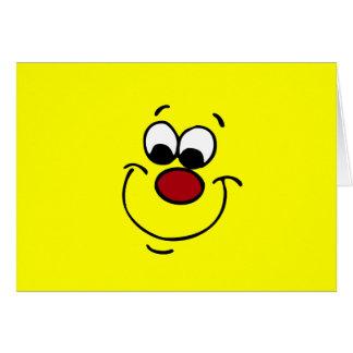 Cara sonriente disimulada Grumpey Tarjeta Pequeña