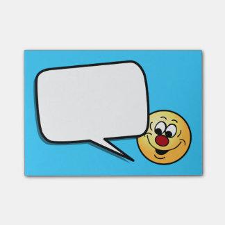 Cara sonriente distraída Grumpey Nota Post-it®
