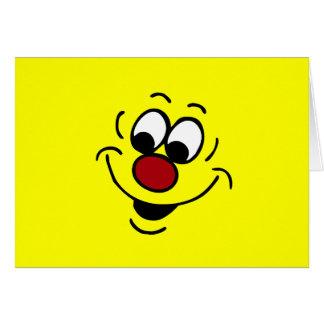 Cara sonriente distraída Grumpey Tarjeta Pequeña