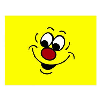 Cara sonriente distraída Grumpey Postal