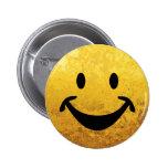 Cara sonriente divertida + su backg. y ideas chapa redonda 5 cm