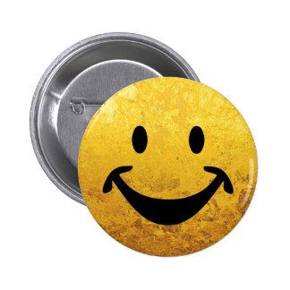 Cara sonriente divertida + su backg. y ideas pin redondo 5 cm