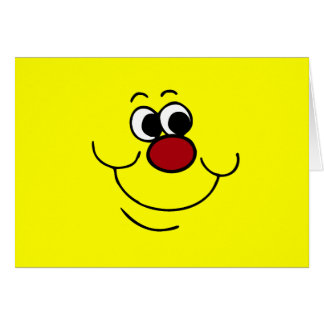 Cara sonriente egoísta Grumpey Tarjeta Pequeña