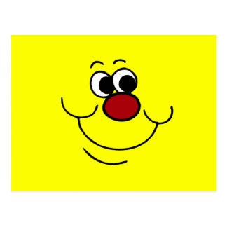 Cara sonriente egoísta Grumpey Postal