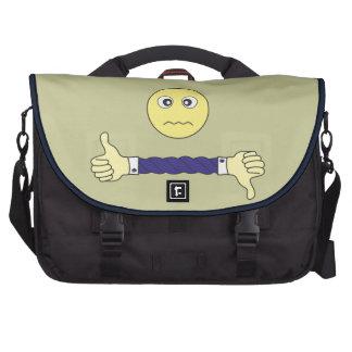 cara sonriente el personalizado principal de la bolsas para portatil