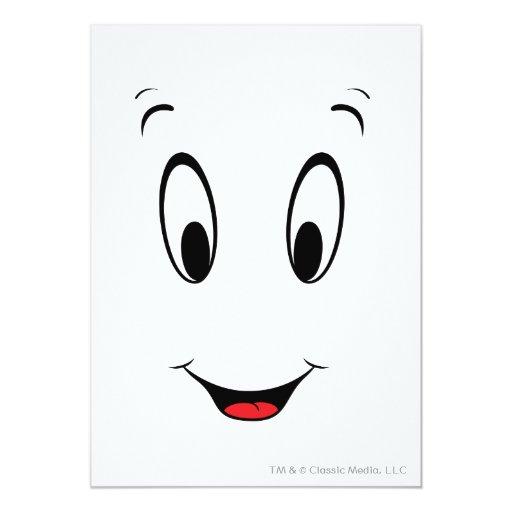 "Cara sonriente estupenda de Casper Invitación 5"" X 7"""
