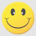 Cara sonriente etiqueta redonda