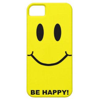 Cara sonriente feliz iPhone 5 fundas