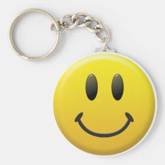 Cara sonriente feliz llavero redondo tipo pin