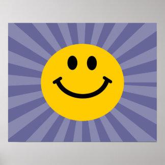 Cara sonriente feliz póster
