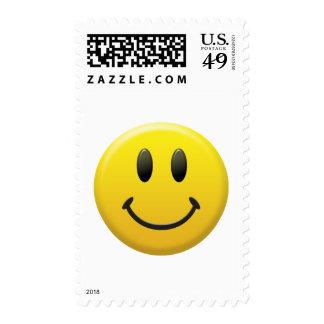 Cara sonriente feliz sellos