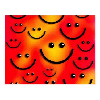 ¡Cara sonriente feliz sonriente! Tarjeta Postal