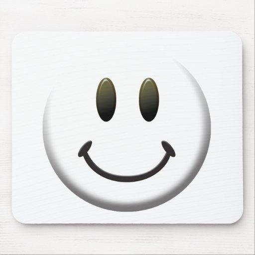 Cara sonriente feliz tapete de raton