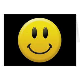 Cara sonriente feliz felicitaciones