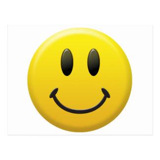 Cara sonriente feliz postal