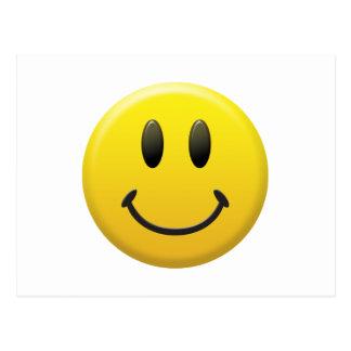 Cara sonriente feliz tarjetas postales