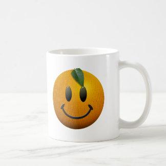 Cara sonriente feliz tazas