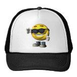 cara sonriente fresca gorras de camionero