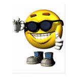 cara sonriente fresca postales