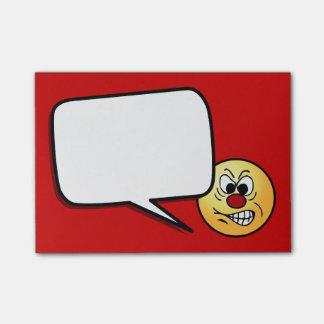 Cara sonriente frustrada Grumpey Post-it® Notas