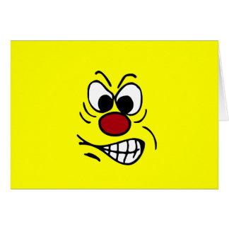 Cara sonriente frustrada Grumpey Felicitacion