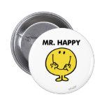 Cara sonriente gigante de Sr. Happy el   Pin Redondo De 2 Pulgadas