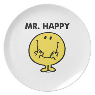 Cara sonriente gigante de Sr. Happy el | Platos Para Fiestas