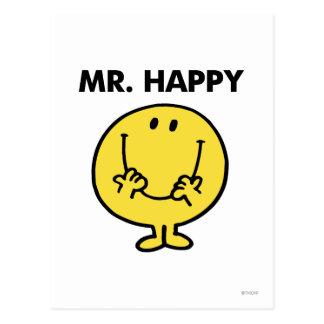 Cara sonriente gigante de Sr. Happy el | Postal