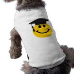 Cara sonriente graduada camiseta de mascota