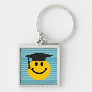 Cara sonriente graduada llavero