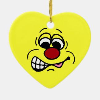 Cara sonriente Grumpey del empleado contrariedad Ornamentos De Reyes