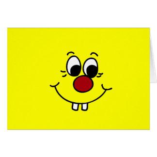 Cara sonriente Grumpey del genio Felicitacion