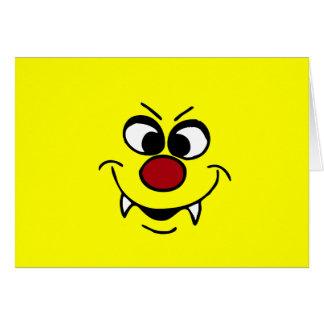 Cara sonriente Grumpey del vampiro Tarjeta