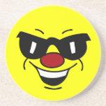 Cara sonriente Hungover Grumpey Posavasos Manualidades