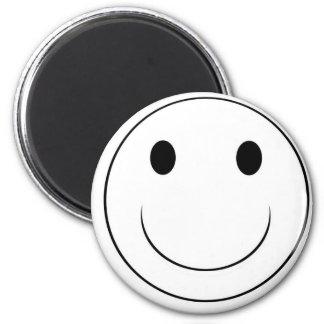 cara sonriente imán redondo 5 cm