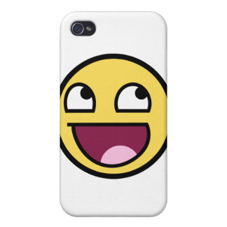 Cara sonriente impresionante iPhone 4/4S carcasa