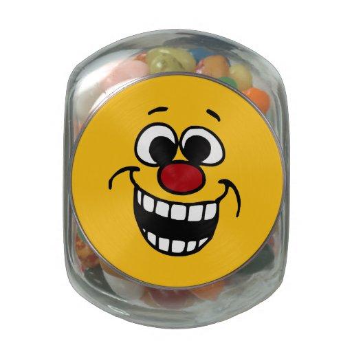 Cara sonriente impresionante Grumpey Jarras De Cristal
