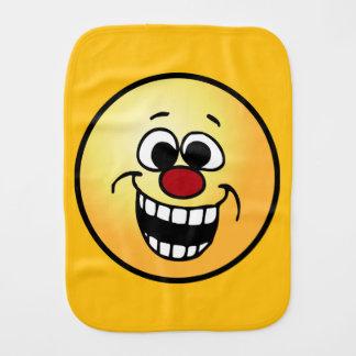 Cara sonriente impresionante Grumpey Paños De Bebé