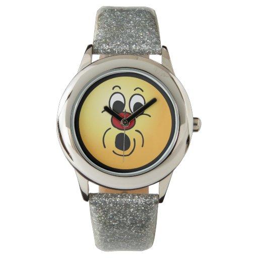 Cara sonriente inocente Grumpey Relojes