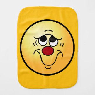 Cara sonriente insegura Grumpey Paños De Bebé