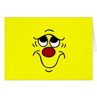 Cara sonriente insegura Grumpey Tarjeta Pequeña