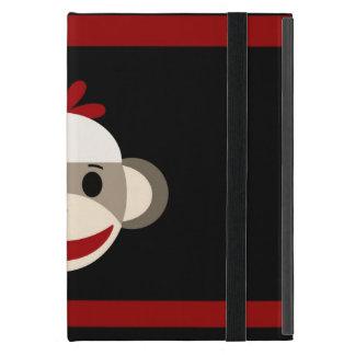 Cara sonriente linda del mono del calcetín en iPad mini cárcasa