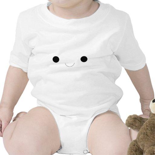Cara sonriente linda trajes de bebé